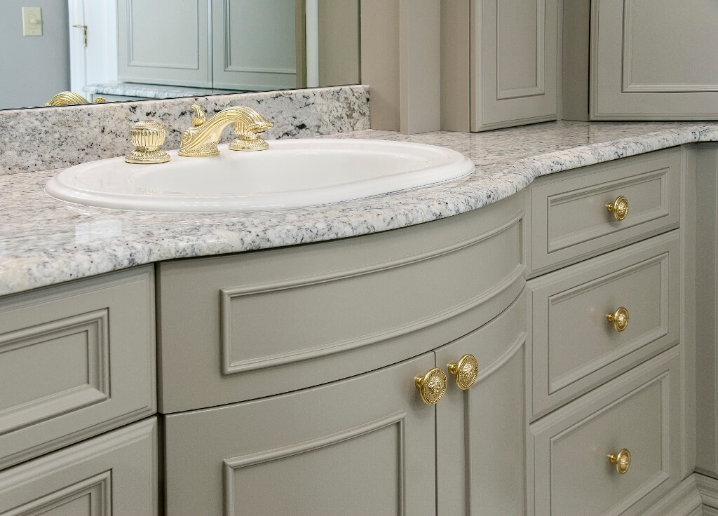 Bow Front Bathroom Vanity Ideas