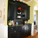 Black painted built in cabinet
