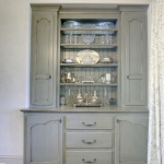 Custom cupboard with painted finish