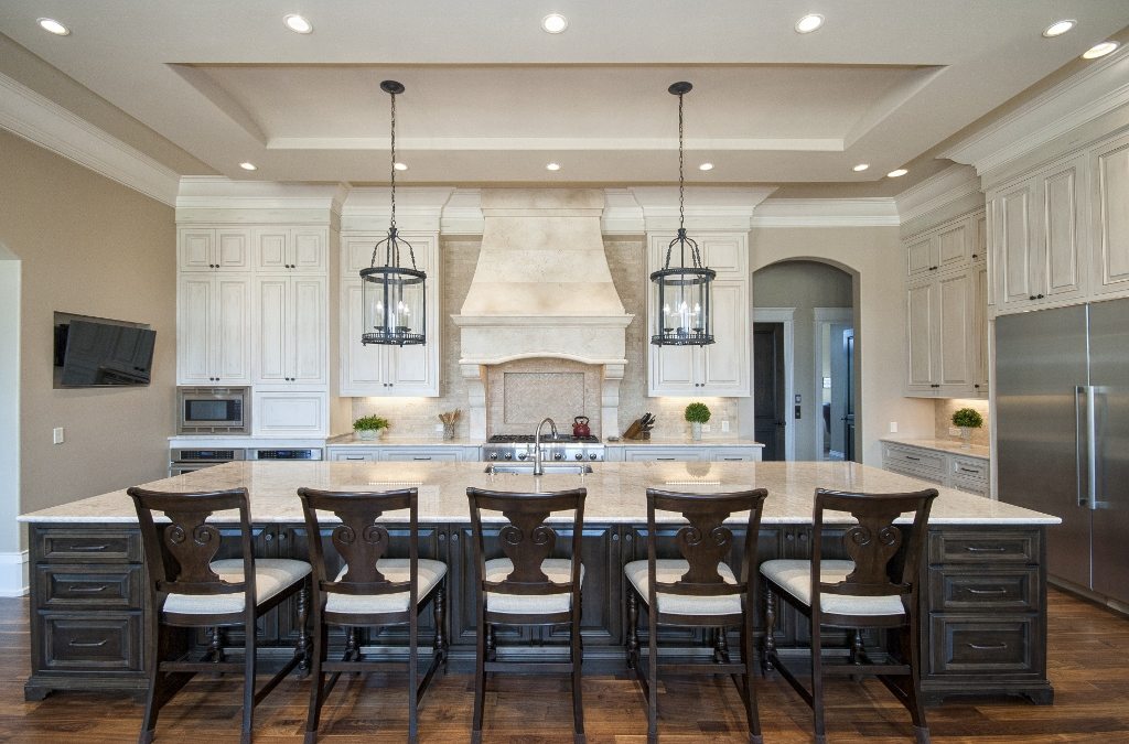 Extra Large Island That Seats Five Custom Wooden Cabinets And Furniture