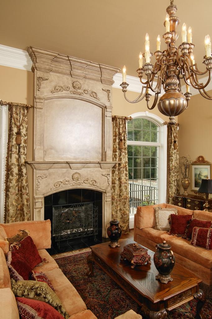 faux stone fireplace surround corbels - Stone Fireplace Surround