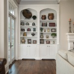 Furniture grade white painted built ins