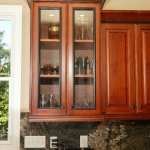 Glass paneled upper cabinet