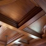 Glimmering mahogany ceiling