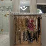 Hanging Necklaces in Master Bathroom Island