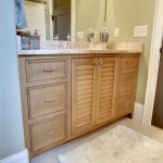 Inset drawers with plantation shutter doors