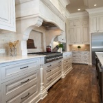Large custom kitchen with one inch fronts