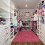 Little girl's dream closet pink rug