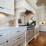 Maple cabinets with alabaster finish