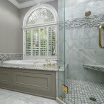 Master Tub with Glass Shower