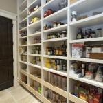 Open shelf pantry floor to ceiling