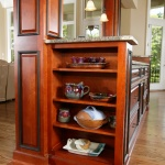 Open storage in side of kitchen cabinet