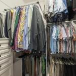 Pull down closet racks