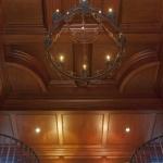 Radius mahogany library ceiling