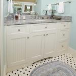 Simple white shaker vanity