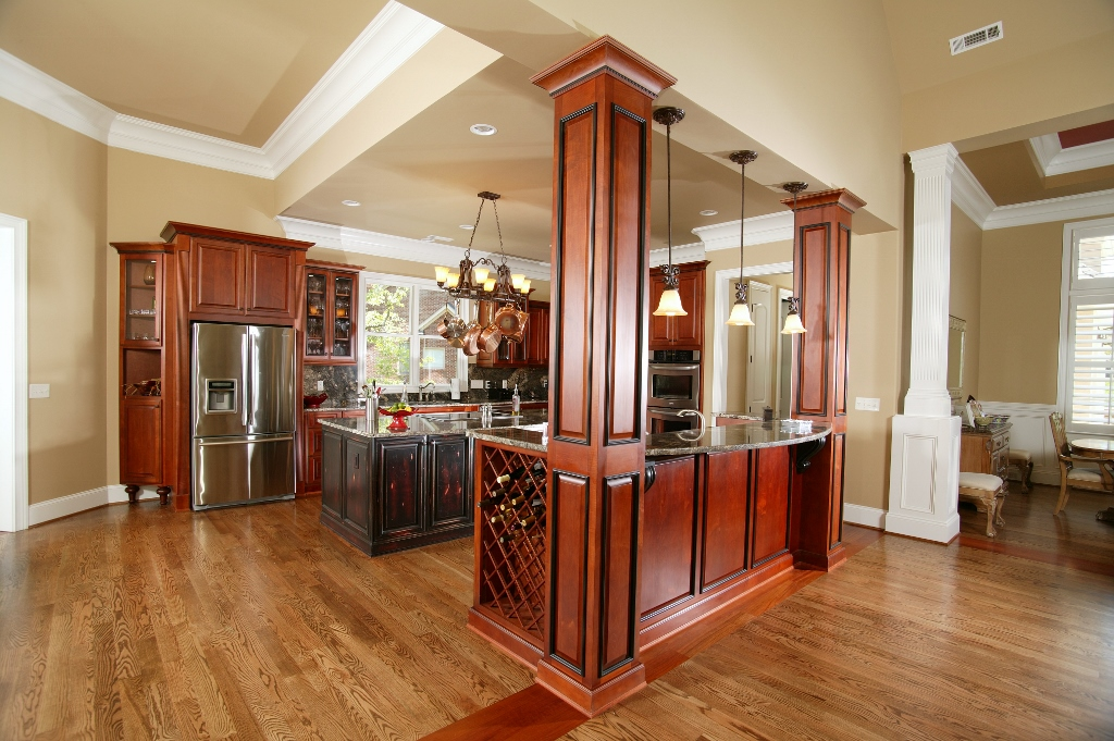 Tall Ceilings In Kitchen With Island Custom Wooden