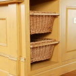 Woven Baskets in Kitchen Cabinets