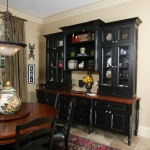 black hutch with wood top