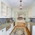 butlers pantry narrow white kitchen