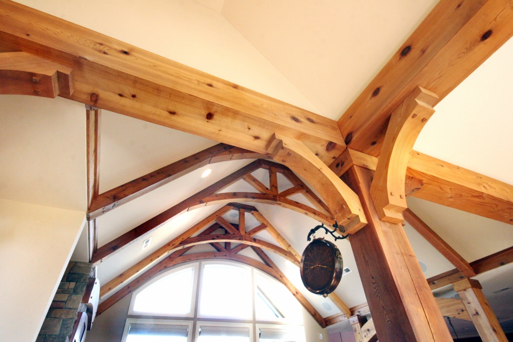 Specialty 1 6 6 custom wooden cabinets and furniture for Arched ceiling beams