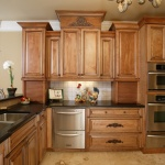 classic stained custom kitchen with large drawers