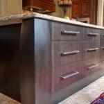 contemporary clean kitchen island