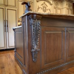 detailed carved corbel