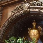 detailed shot with exquisite radius molding