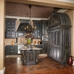 gothic black kitchen exotic moldings