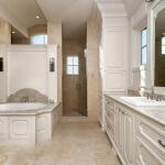 master bath radius concave panel