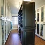 master closet glass paneled doors white and black