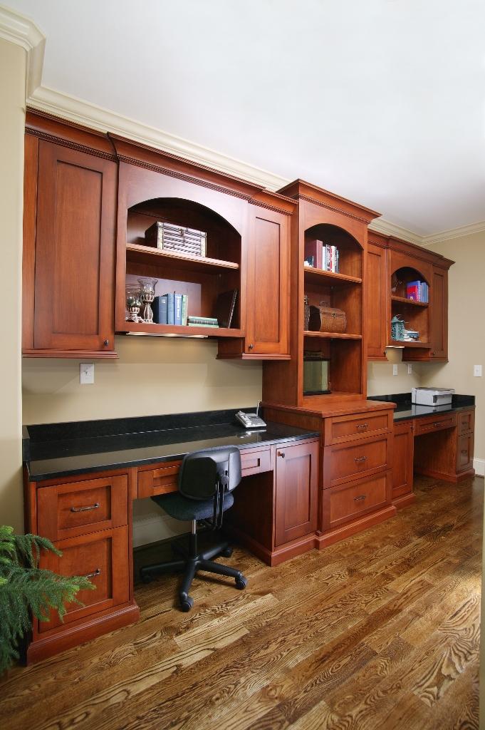 office space with shaker door