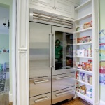 pull out skinny can pantry either side of refridgerator
