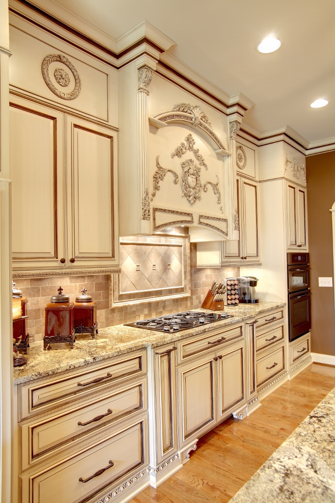 regal-two-toned-kitchen-with-appliques Kitchen Cabinet Appliques