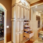 two tone painted wall pantry