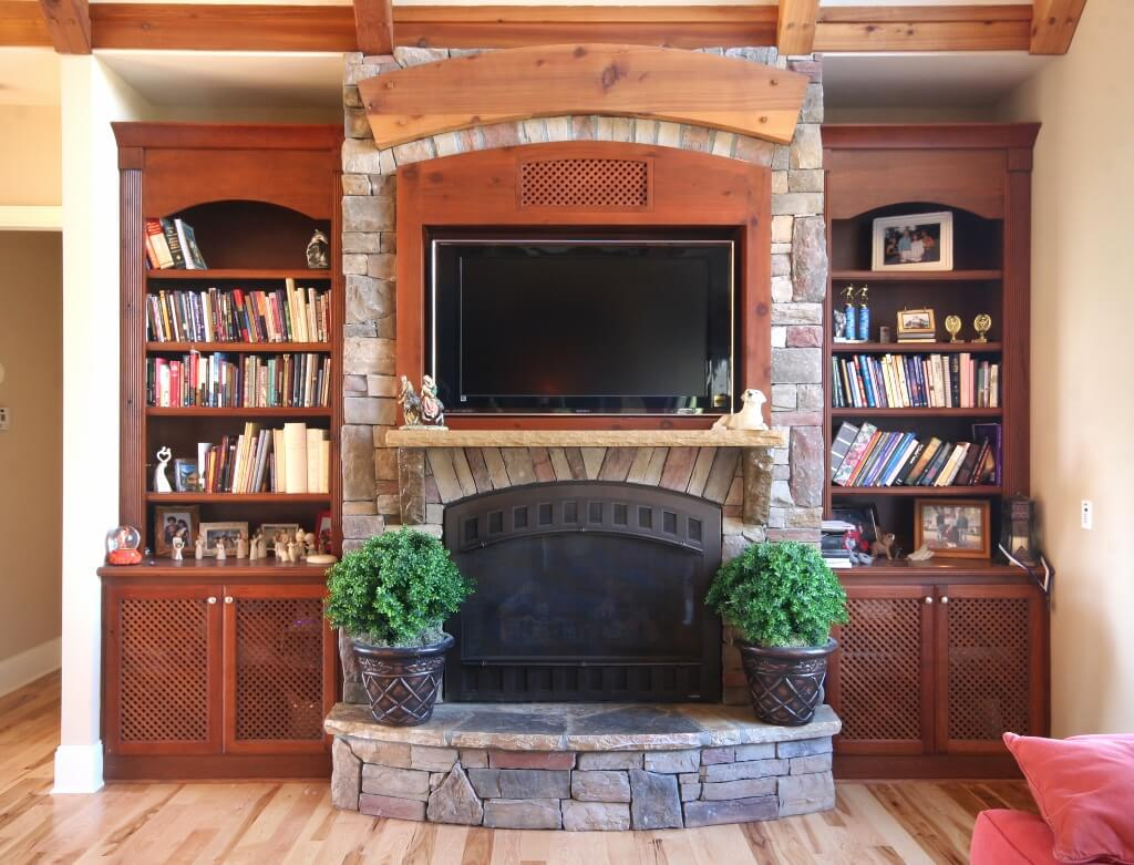 Built In Bookcases With TV Surround