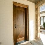Flat panel exterior door