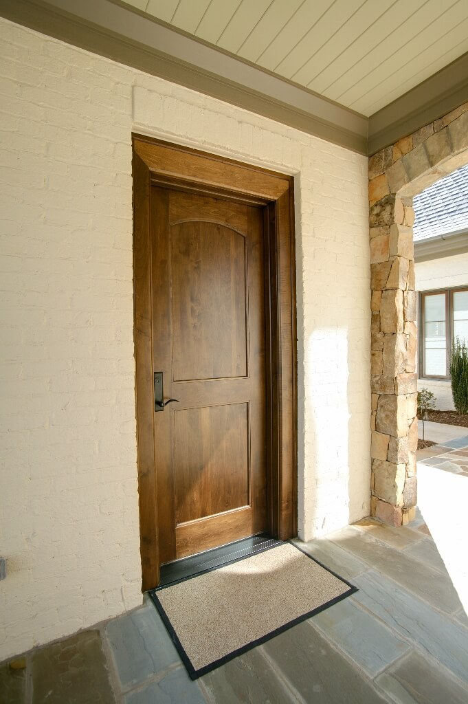 Outdoor 1 custom wooden cabinets and furniture for Flat entry door design