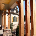 Front enterance porch beams