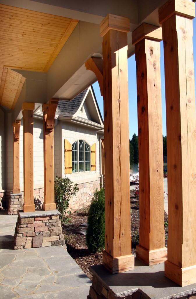Front enterance porch beams
