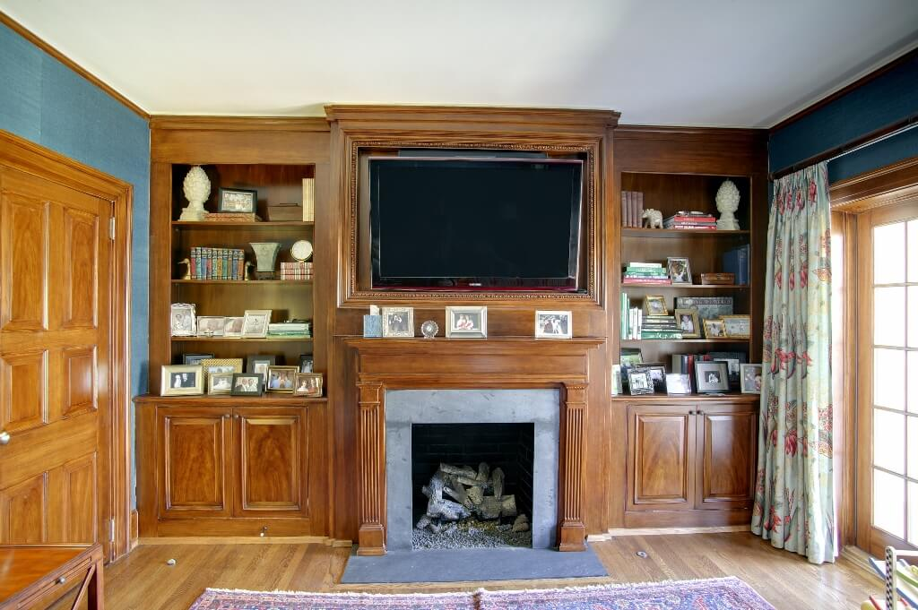 Fireplace Surround Tv Shelves And Cabinet