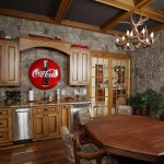 game room coca cola sign stained alder